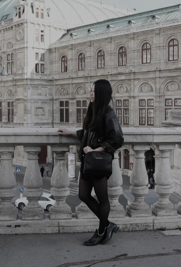 IHEARTALICE – Fashion & Travel-Blog by Alice M. Huynh from Germany: OOTD – Outfit of the Day wearing Vintage Leather Jacket