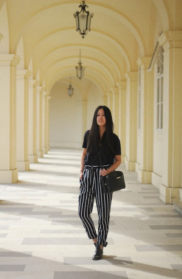 IHEARTALICE – Fashion & Travel-Blog by Alice M. Huynh from Germany: OOTD – Outfit of the Day wearing Stripe Trousers & Cut-out Boots in Vienna / Austria