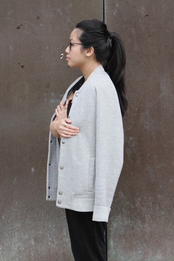 IHEARTALICE – Fashion & Travel-Blog by Alice M. Huynh from Germany: OOTD – Outfit of the Day wearing grey College Jacket
