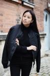 IHEARTALICE.DE – Fashion & Travel Blog: All Black Everything Look wearing Schott NYC Bomber Jacket