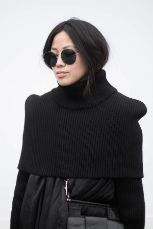 All Black Everything Maison Martin Margiela Turtleneck Sweater during Berlin Fashion Week Streetstyle - IheartAlice.com