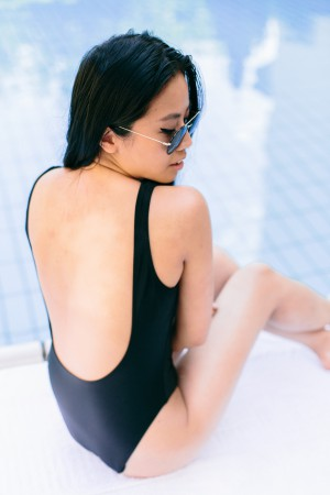IHEARTALICE.DE – Fashion & Travel Blog: All Black Everything Look wearing American Apparel Malibu Swimsuit / OOTD