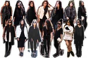 IHEARTALICE.DE – Fashion & Travel Blog: All Black Everything Look wearing Sandro White Leatherjacket, Nike Roshe-run, Skinny Jeans, Prada Shades, V-Neck TShirt