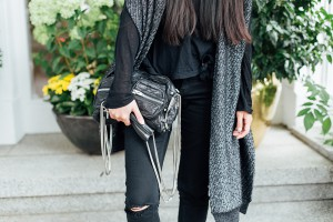 IHEARTALICE.DE – Fashion & Travel Blog: All Black Everything Look wearing Ripped Jeans, Alexander Wang Brenda Bag