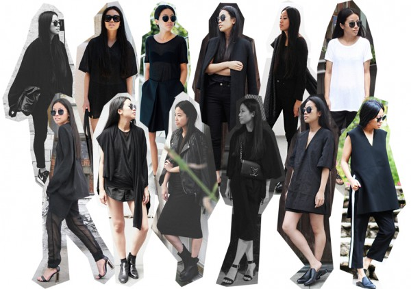 IHEARTALICE.DE – Fashion & Travel Blog: All Black Everything Look wearing Helmut Lang T-Shirt, Louis Vuitton Signature Leather Bag, Alexander Wang Boots, T by Alexander Wang TShirt, Prada Pilote Shades, Vince Silk Pants, Turtleneck, V-neck Blouse