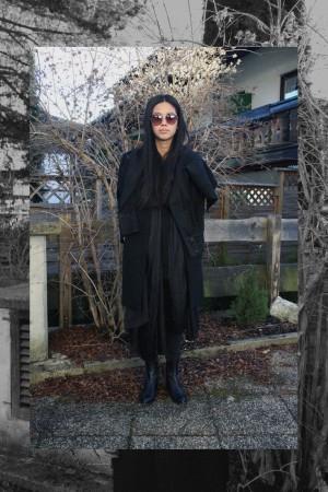 IHEARTALICE.DE – Fashion & Travel Blog: All Black Everything Look wearing Karl Lagerfeld x Alice M. Huynh / Karl Lagerfeld Jeansjacket