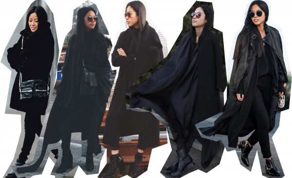 IHEARTALICE.DE – Fashion & Travel Blog: All Black Everything Look wearing Helmut Lang Black Blouse, Alexander Wang Boots, Long Black Cardigan, Vintage Leather Bag, Zara Coat, Leatherjacket / OOTD