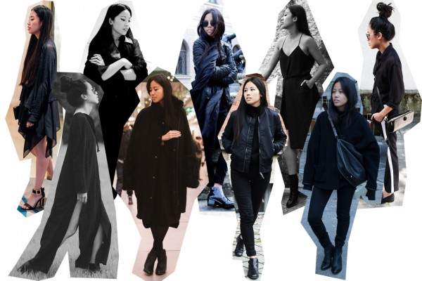 IHEARTALICE.DE – Fashion & Travel Blog: All Black Everything Look wearing Bomberjacket, Woolcoat, Sherling Coat, Acne Studios Boots, Leatherjacket, Black Leather Dress