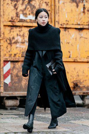 All Black Everything Maison Martin Margiela Turtleneck Sweater during Berlin Fashion Week Streetstyle - IheartAlice.com