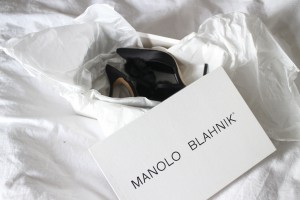 Manolo Blahnik - Crespo Satin Black Pumps