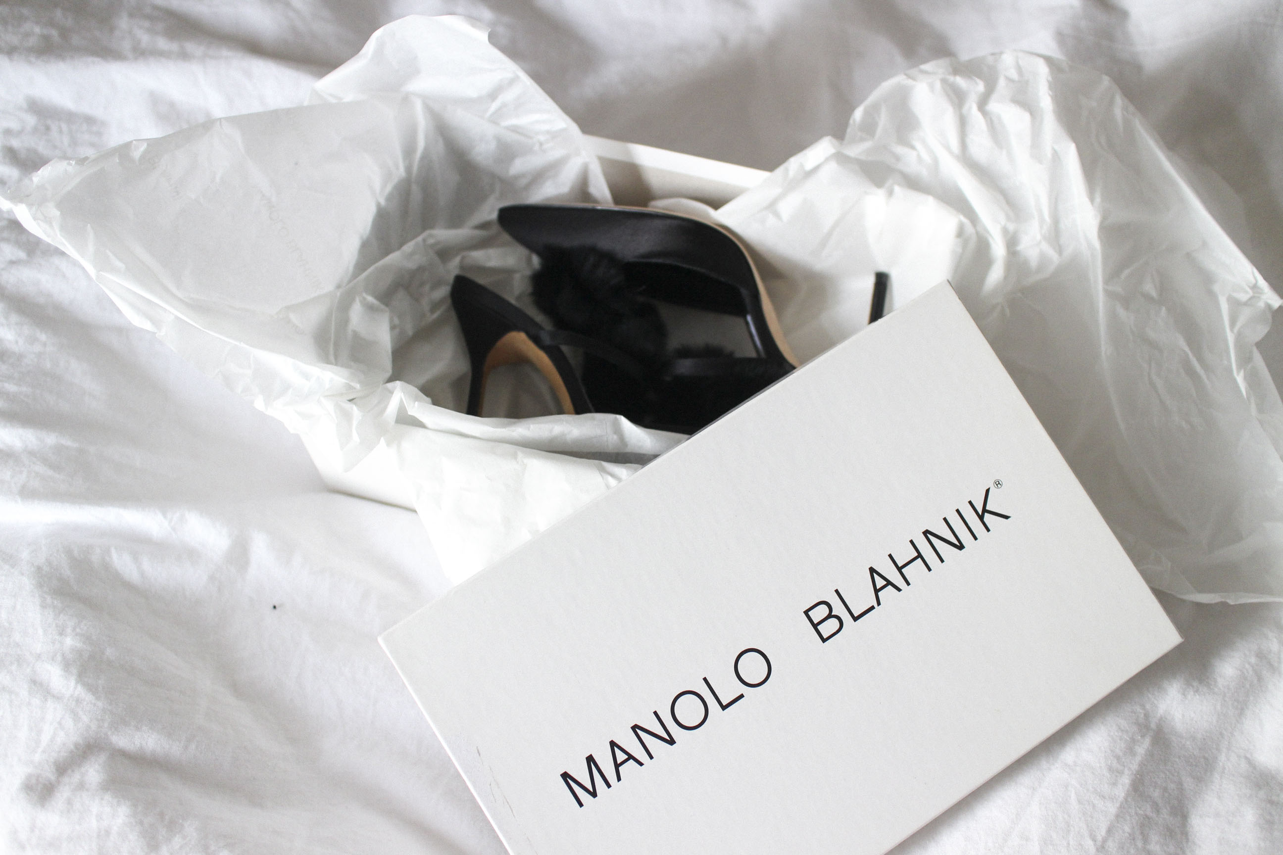 Manolo Blahnik Crespo Satin Pumps