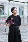I heart Alice – Fashionblog from Germany: Alice M. Huynh wearing Emporio Armani Wide Satin Pants & Croco Stamped Leatherbag