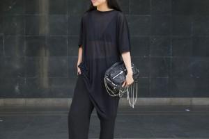 I heart Alice / Looks of Alice: OAK NY T-shirt, COS SIlk Pants, Barneys New York Slip on, Alexander Wang Brenda Bag