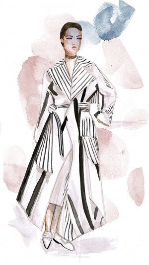 IHEARTALICE.DE - Travel, Lifestyle & Fashion-Blog from Berlin/Germany by Alice M. Huynh: Acne Resort 2016 Fashion Illustration by Aivy Pham Coat