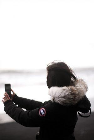 Iceland Travel Guide wearing Canada Goose Kensington Parka / IheartAlice.com