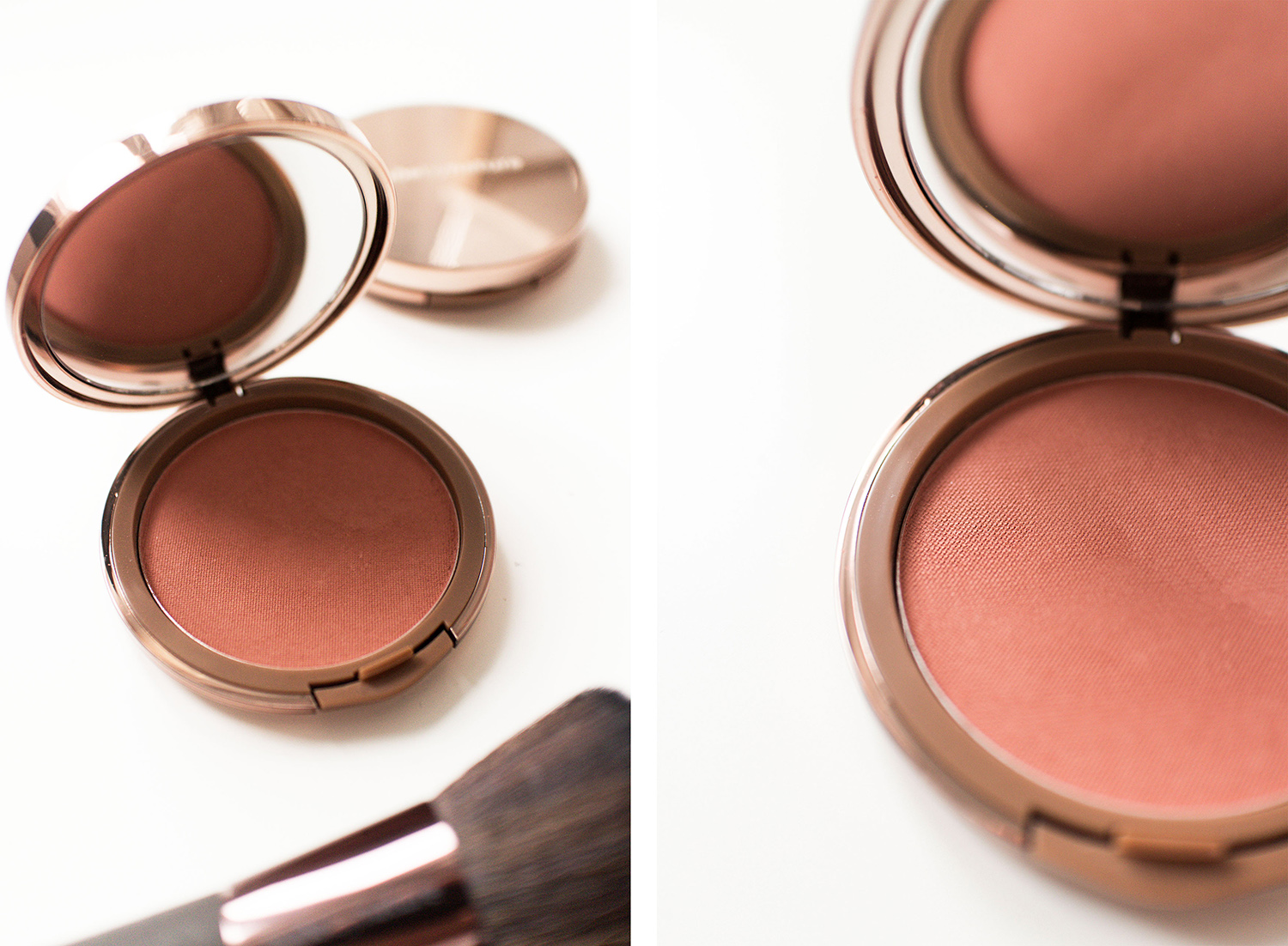 Nude by Nature Christmas Collection Set Review: Cashmere Pressed Blush – 02 Pink Lilly & Flawless Brush