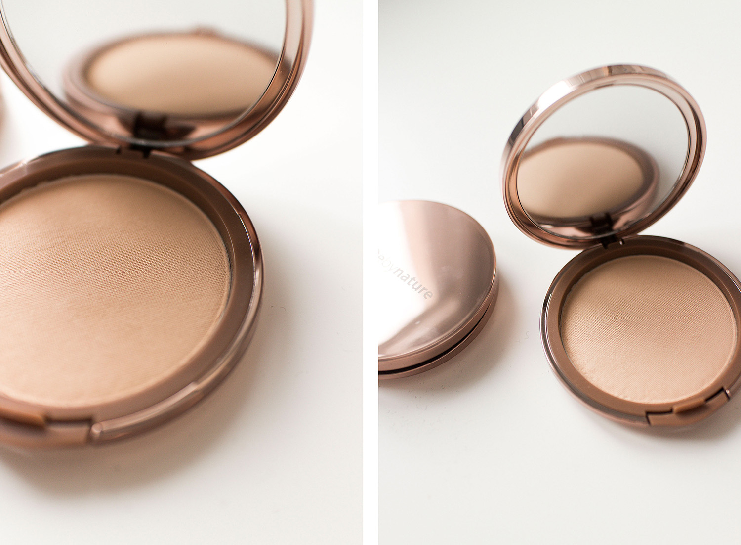 Nude by Nature Christmas Collection Set Review: Mattifying Pressed Setting Powder
