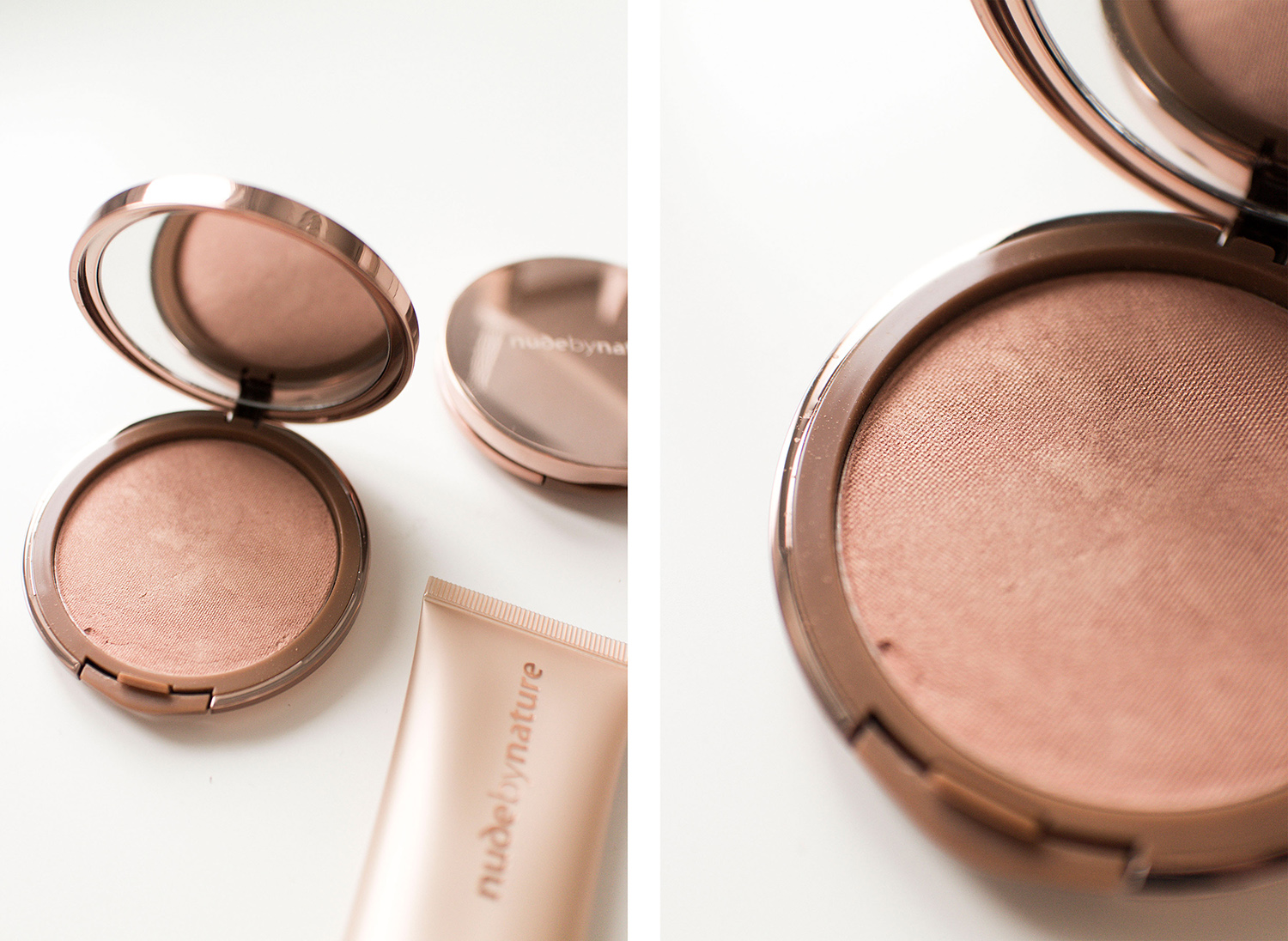 Nude by Nature Christmas Collection Set Review: Sheer Light Pressed Illuminator