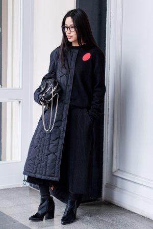 All Black everything / Hunter jacket & Alexander Wang Brenda Bag - IheartAlice.com