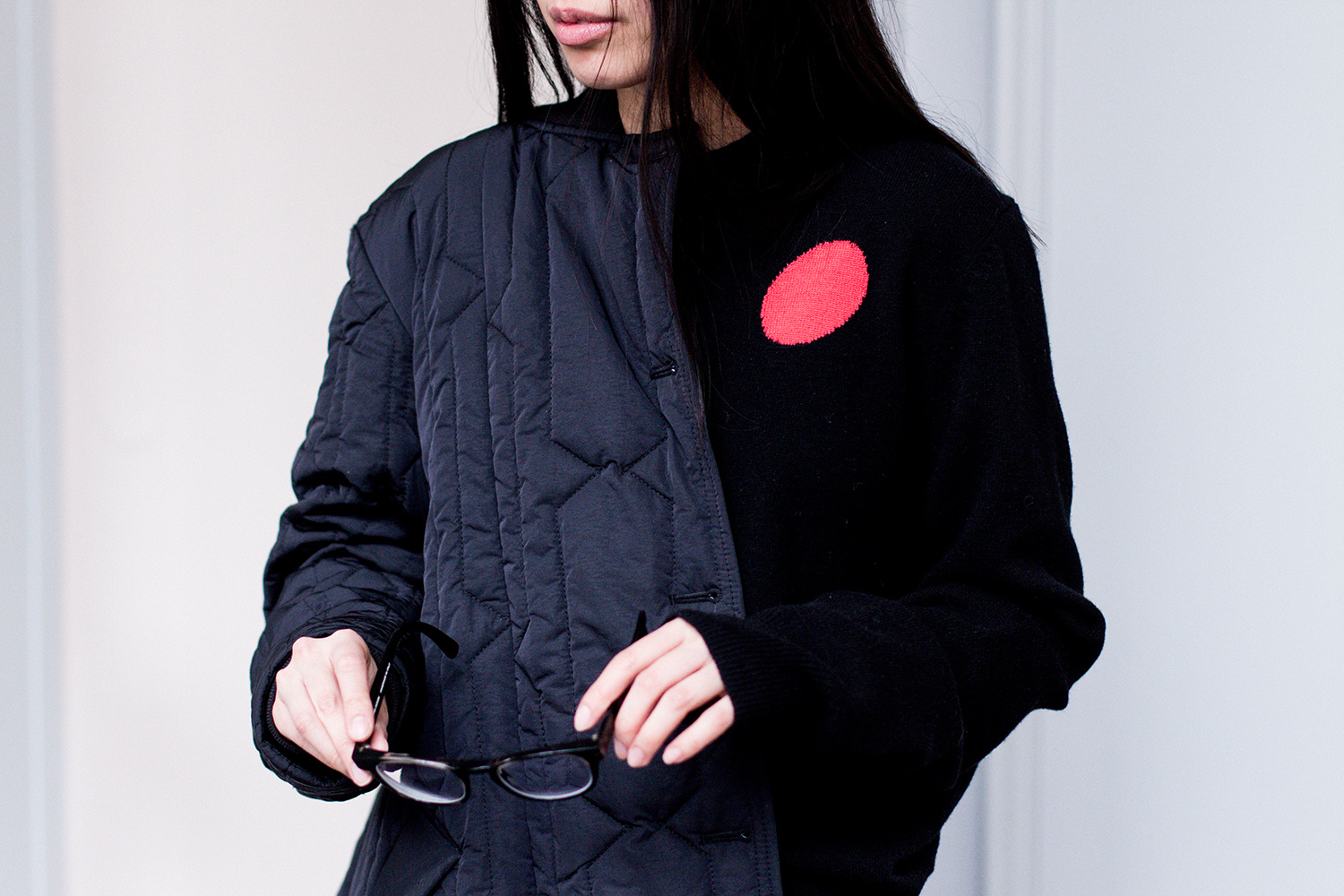 Black Quilted Hunter Jacket