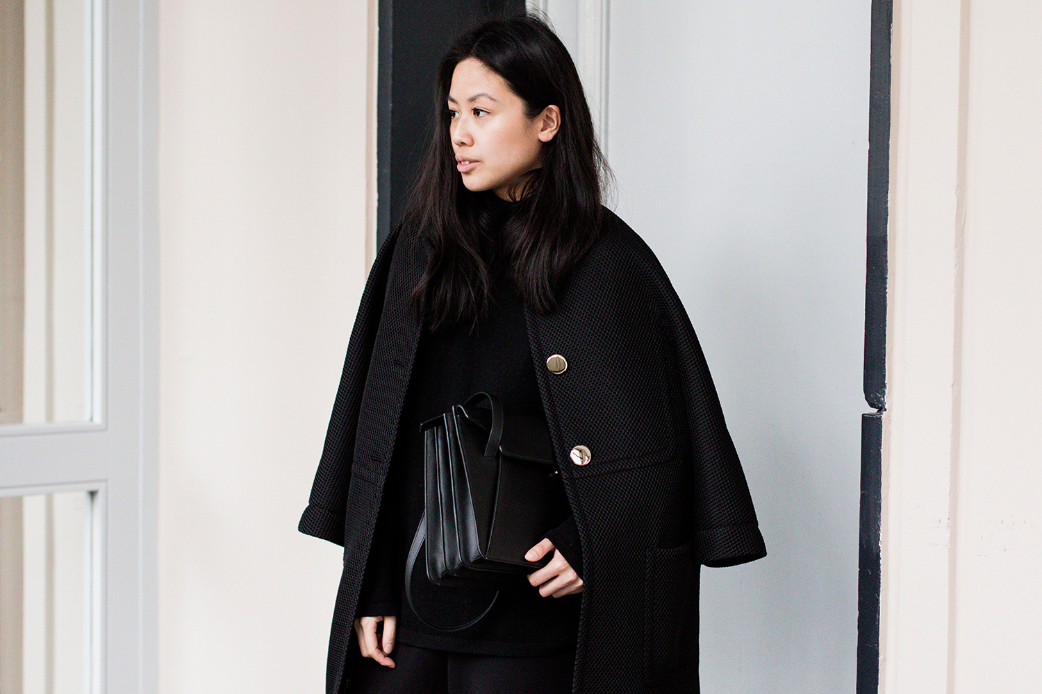 Escada Coat All Black Everything Style by IheartAlice.com