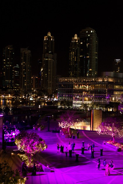 Dubai Downtown by Night