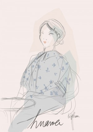 HUAWEI mediapad M2 10.0 / I heart alice / fashion illustration /sketching / vi pham