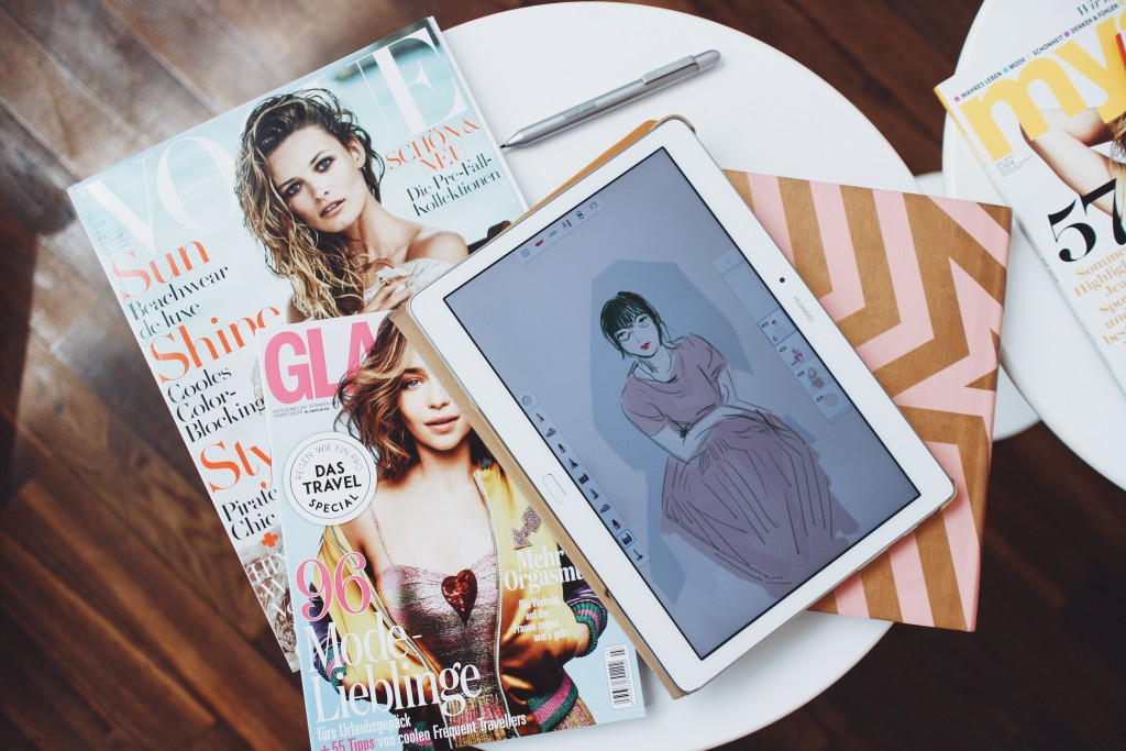HUAWEI mediapad M2 10.0 / I heart alice / fashion illustration /sketching / vi pham