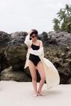 One-Shoulder SOne-Shoulder Swimsuit & Ayurganic Bathrobewimsuit & Ayurverdic Bathrobe