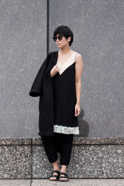 Neglige Lace Dress / All Black Everything Looks / IheartAlice.com
