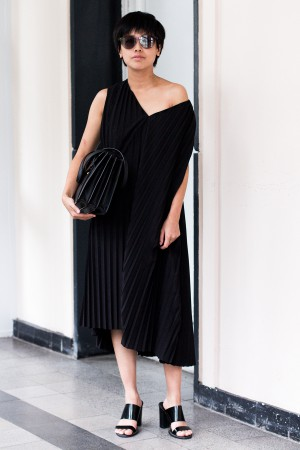 Pleated Dress by &OtherStories / All Black Everything Looks