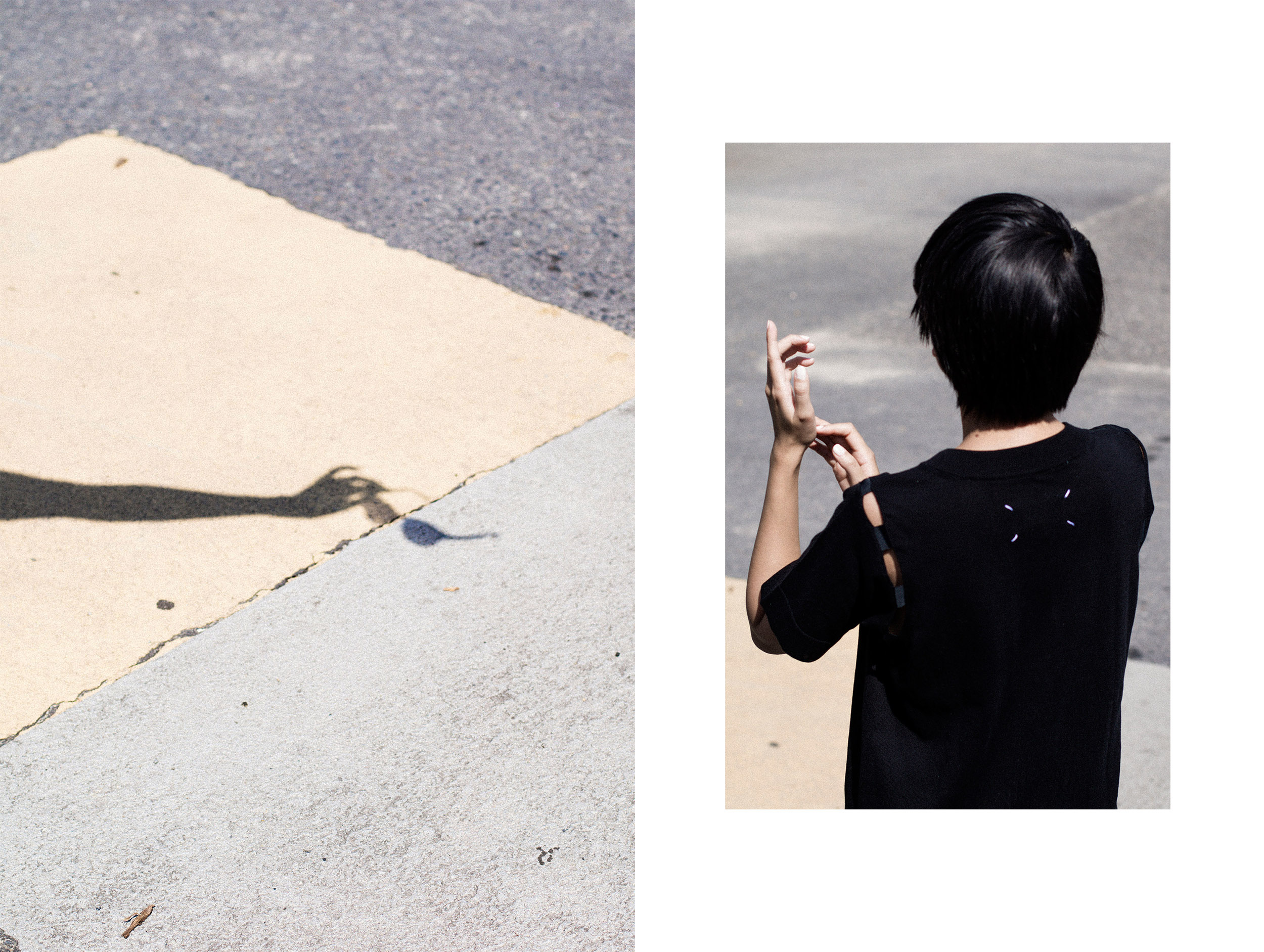 Maison Margiela Tshirt Dress & Yohji Yamamoto Silk Culottes / IheartAlice.com