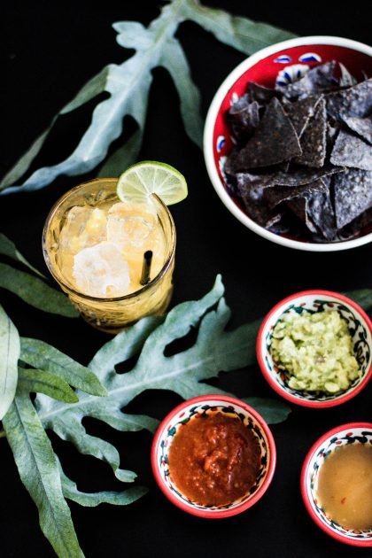 Mango Mezcal Cocktail Rezept & Tortilla Chips - Visit Mexico / IheartAlice.com