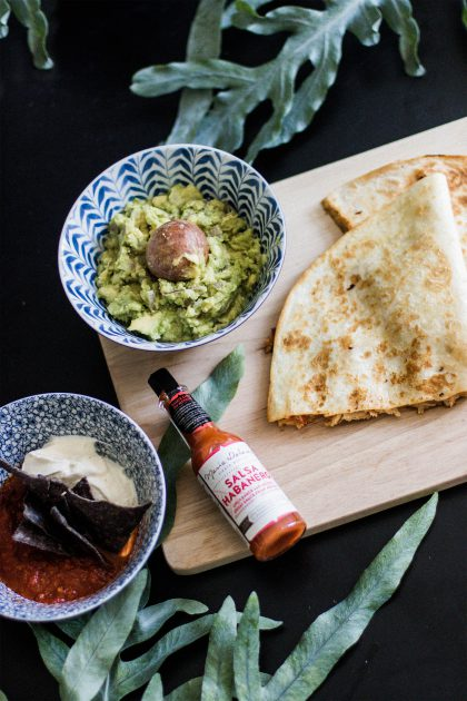 Quesadilla Tinga de Pollo Rezept / IheartAlice.com