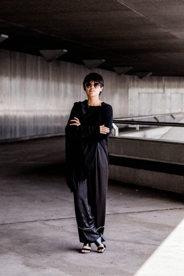 Rismat by Y's / Yohji Yamamoto Knitwear - All black everything look by IheartAlice.com