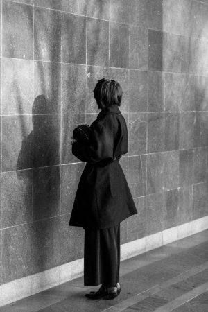 Maison Martin Margiela Coat & Belt, Radley Halfmoon Bag / All Black Everything - IheartAlice.com by Alice M. Huynh