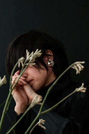 Issey Miyake Pleats Please Turtleneck & &OtherStories Minimalist Earrings - IheartAlice.com by Alice M. Huynh