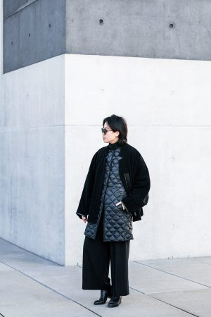 UNIQLO Ultra Light Down Coat, Acne Studios Coat, Samsoe&Samsoe Pants, Alexander Wang Boots - All Black Everything Looks by IheartAlice.com