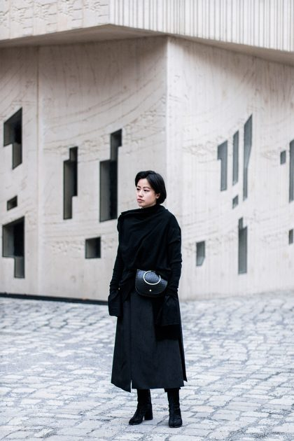 Yohji Yamamoto Knitwear, Maison Martin Margiela Tabi Boots / All Black Everything Look by IheartAlice.com