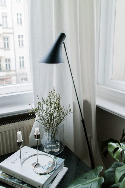 Reading Corner - Berlin Altbau Apartment Interior Inspiration - Lumizil Nordlux Lamps / IheartAlice.com