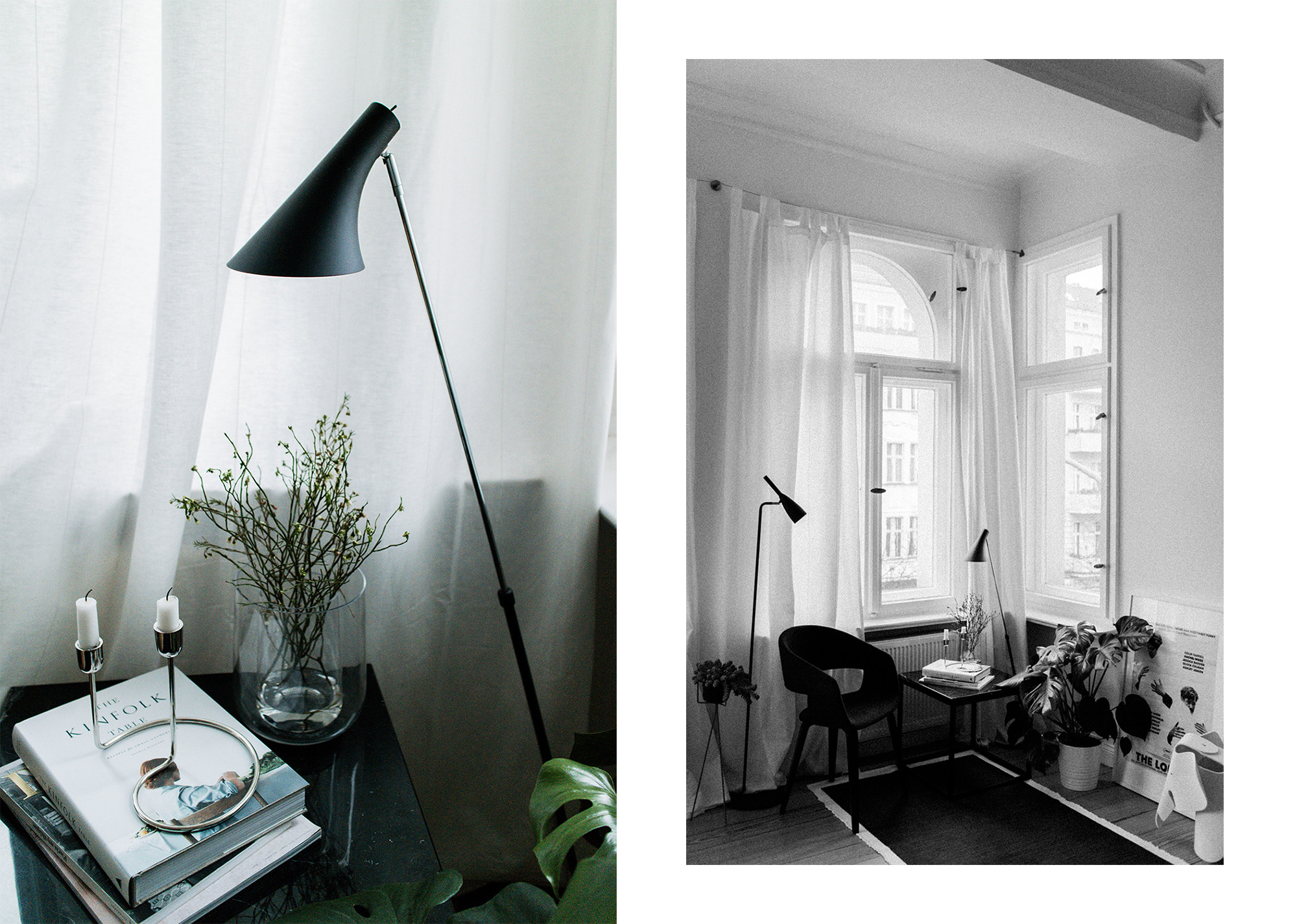Reading Corner - Berlin Altbau Apartment Interior Inspiration / IheartAlice.com