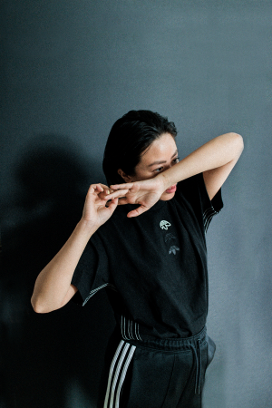 Adidas Alexander Wang Logo Shirt / All black everything - IheartAlice.com by Alice M. Huynh
