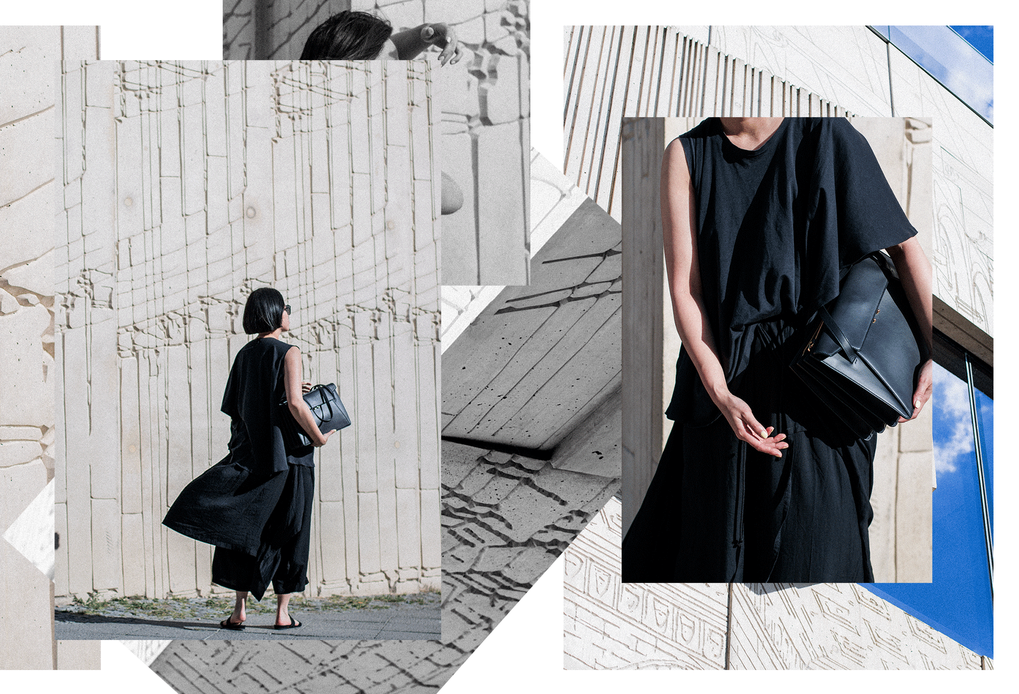 MM6 Top, Yohji Yamamoto Black Skirt Trousers, Marni Origami Trunk Bag - All Black Everything Summer Look by IheartAlice.com / Alice M. Huynh