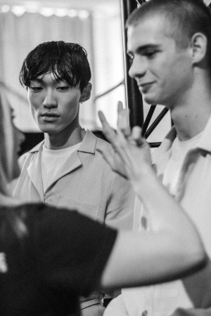 Hien Le S/S 18 Backstage at MBFW Berlin / Fashion Week Berlin Before The Show Impressions by Alice M. Huynh / iHeartAlice.com