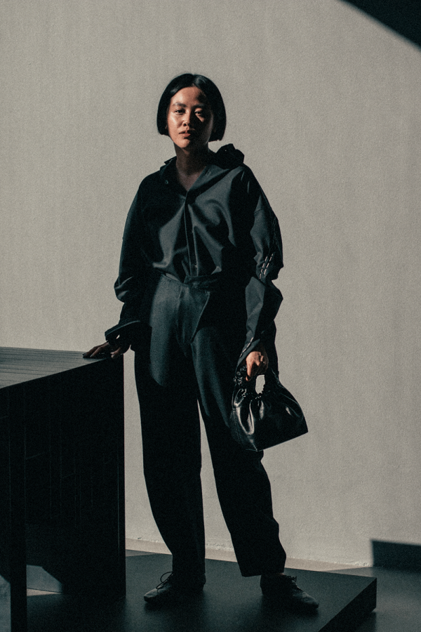 OAMC Shirt, The Row Double Circle Leather Bag, Roberta Furlanetto Trousers, Marsèll Lace-up Shoes, Mykita Eartha Shades / iHeartAlice.com - Alice M. Huynh x Andreas Murkudis - Travel, Lifestyle & Fashion