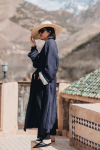Acne Studios Oceane belted striped twill coat / Atlas Mountains in Marocco by Alice M. Huynh – Travel, Fashion & Lifestyle iHeartAlice.com