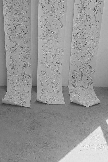 Line Art Drawings by Alice M. Huynh / Uniqlo U Fall Winter Collection - Minimalist Unisex Look - Travel & Styleblog – iHeartAlice.com