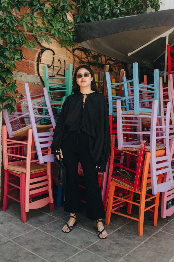 Arket Cotton Blouse & Leather Strap Sandals / All Black Everything Look by Alice M. Huynh - iHeartAlice.com Lifestyle & Travelblog