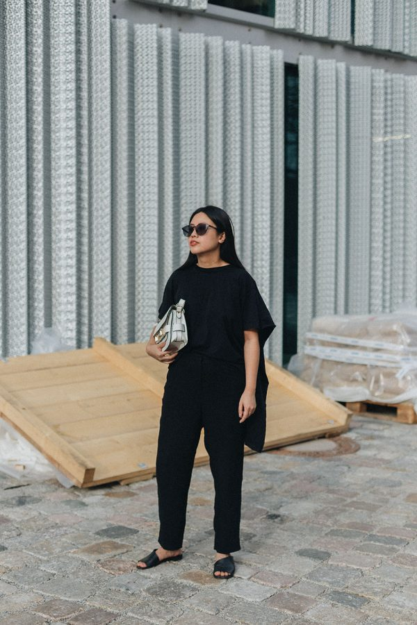 Proenza Schouler Mini PS11 Shoulder Bag, MM6 T-Shirt, COS Silk Trousers - All Black Everything by Alice M. Huynh / Travel, Lifestyle & Fashionblog
