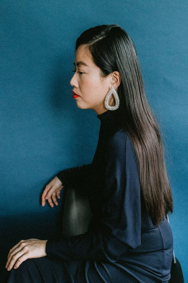 Filippa K Cherice Dress & Rhinestone Earclips – Festive Holiday Look by iHeartAlice.com – Travel, Lifestyle & Fashionblog by Alice M. Huynh / Based in Berlin, Germany – Minimalist Fashionlook